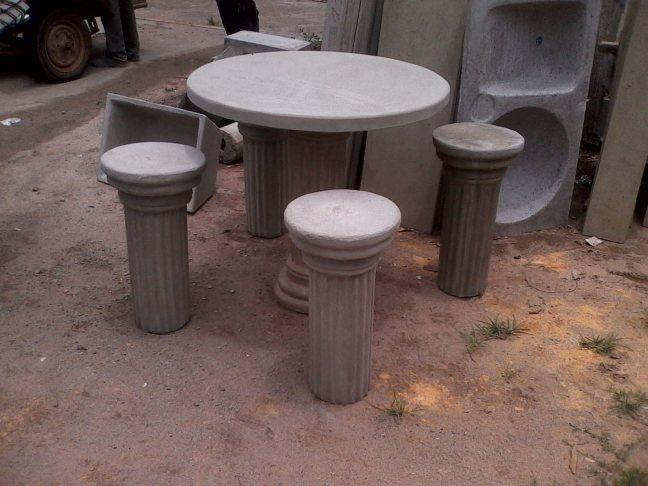 mesa jardim concreto : mesa jardim concreto:Mesa para Jardim (de 1 metro ou 0,80 de raio) com banco separado ou